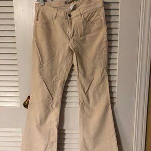 Cream velvet pants